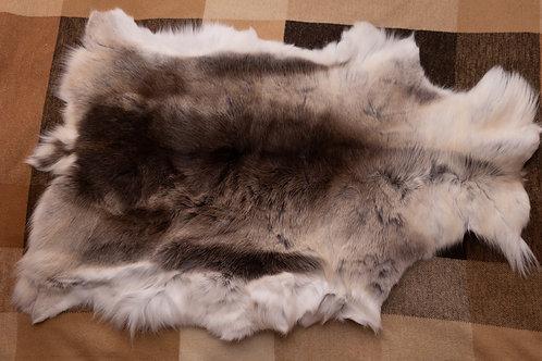 White/Grey/Brown Reindeer Skin 110x70cm