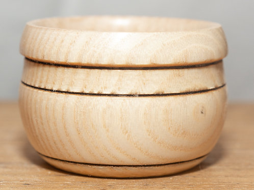 Small Ash Banded and Rimmed Storage Pot