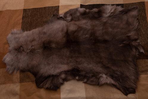 Brown/Dark Brown/Grey Reindeer Skin 118x75cm