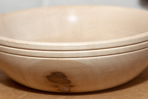 Large 2-Ringed Sycamore Maple Bowl