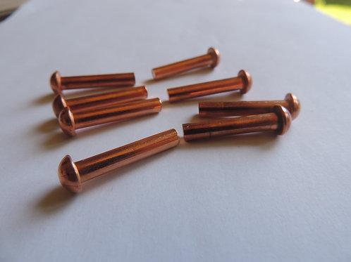 3/16 x 1 inch Copper SHD Rivets