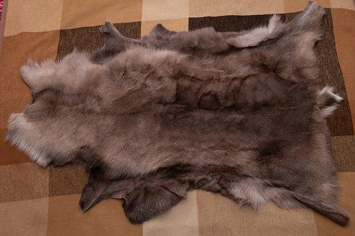 Grey/Light Brown/Brown Reindeer Skin 120x71cm