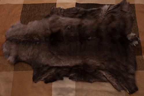 Dark Brown/Brown Reindeer Skin 105x77cm