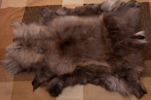 Brown/Grey/Dark Brown Reindeer Skin 112x76cm