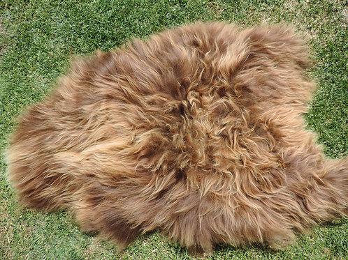 Icelandic Sheepskin Rug- Rusty Brown