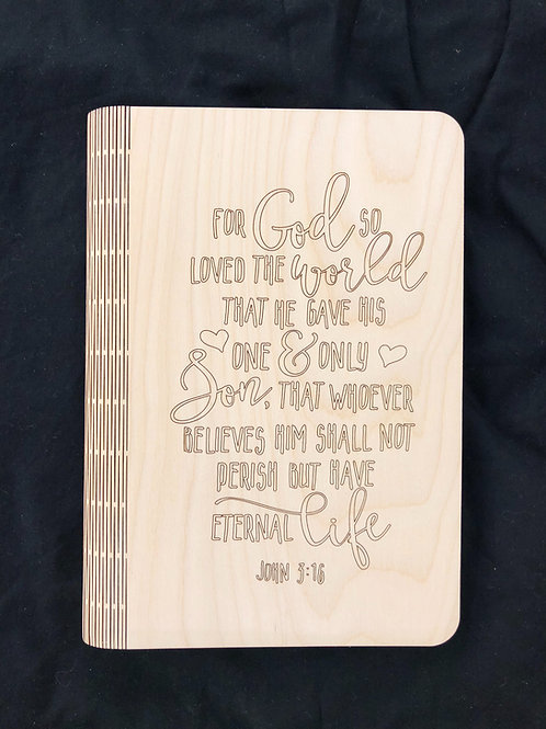 John 3:16 Notebook Cover