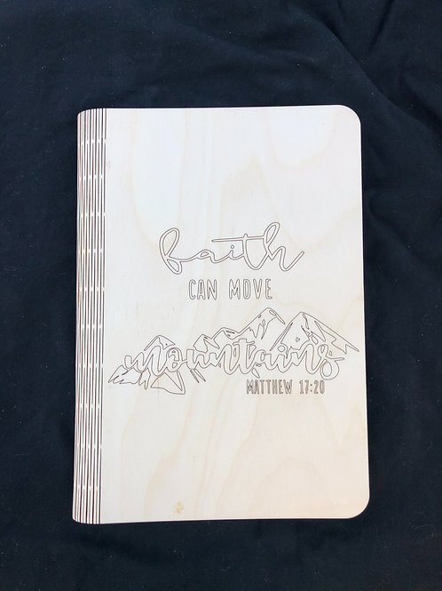 Faith Can Move Mountains Notebook Cover