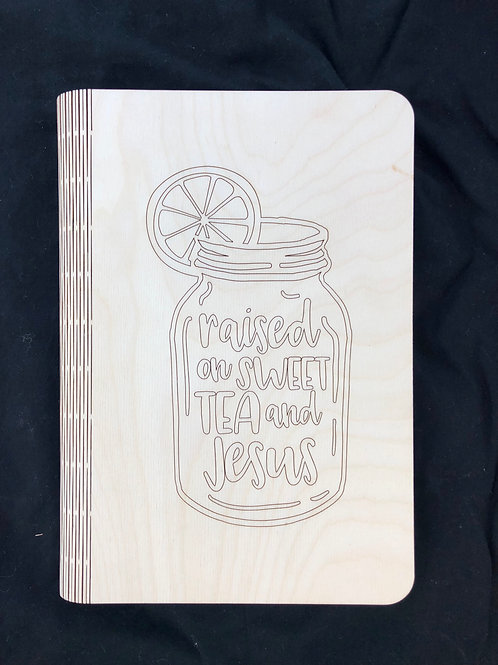 Sweet Tea and Jesus Notebook Cover