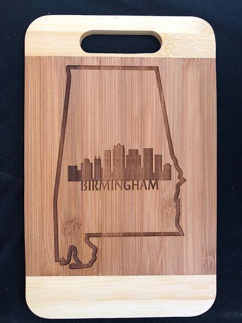Birmingham Alabama bamboo cutting board