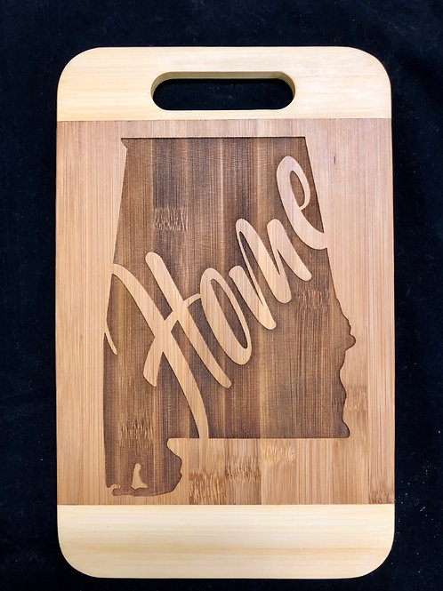 Bamboo Alabama Home Cutting Board