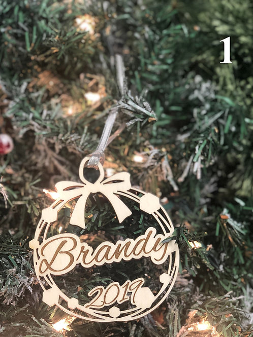 Personalized Ribbon Ornaments