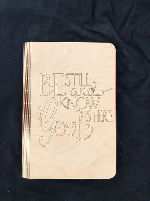 Be Still and Know I Am God notebook cover