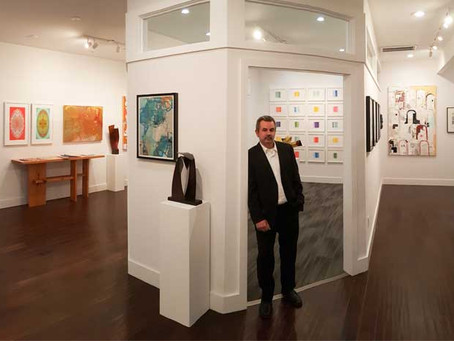 """From architectural office to art gallery + """"In Pursuit of Color"""" now on view at the Lockwood Gallery"""