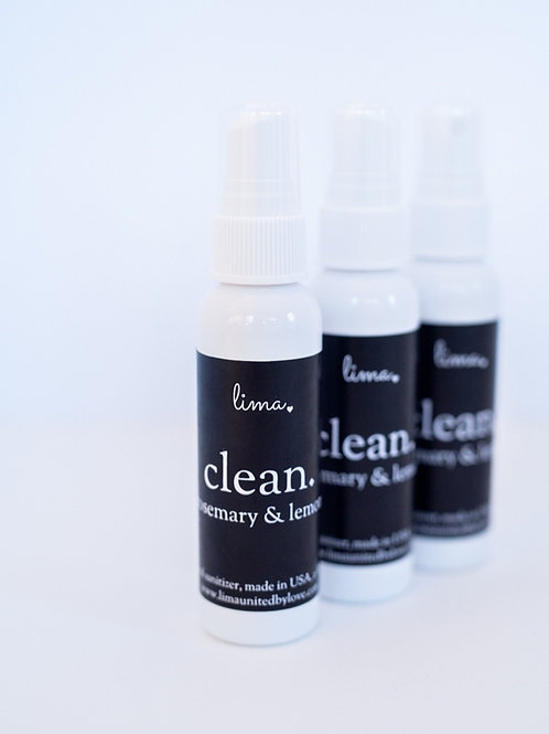 LIMA CLEAN   hand sanitizer   70% ethyl alcohol   2 oz.
