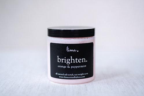 LIMA BRIGHTEN | all natural | himalayan pink salt scrub | choose your size