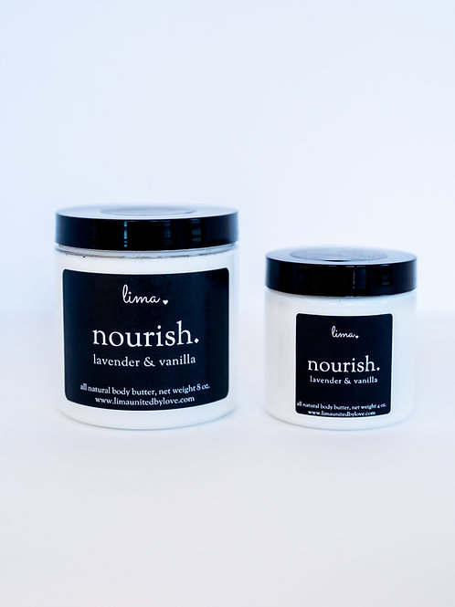 LIMA NOURISH | all natural | whipped body butter | choose your size