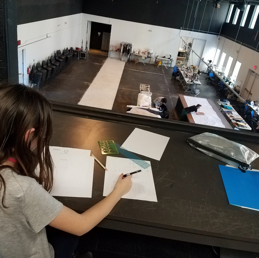 Student sketching lesson