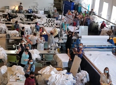 We've Made 100K Medical Gowns!