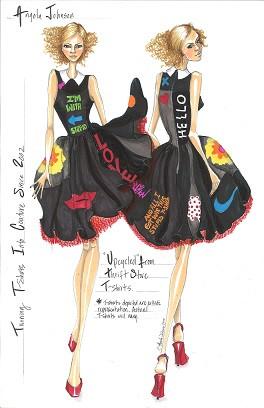 Angela Johnson Upcycled Tshirt Dress Ske