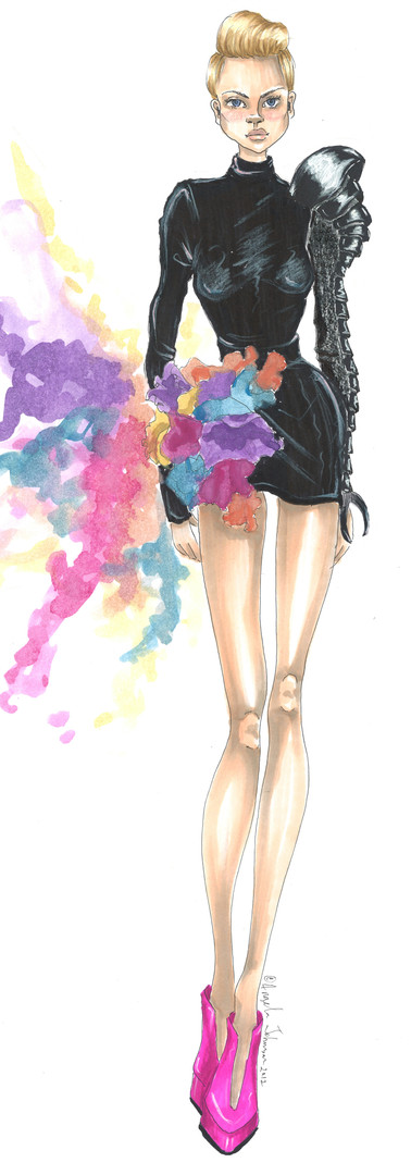 Angela Johnson bird inspired fashion ske