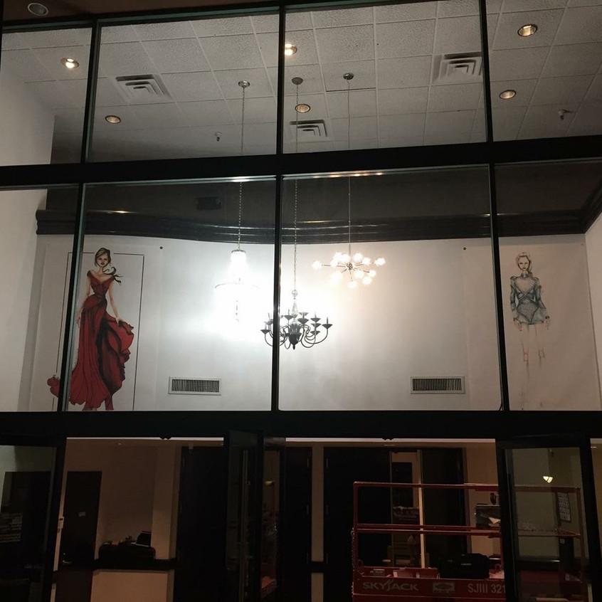 chandeliers installed