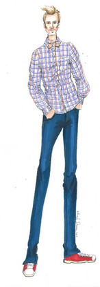 Angela Johnson Mens Fashion sketch