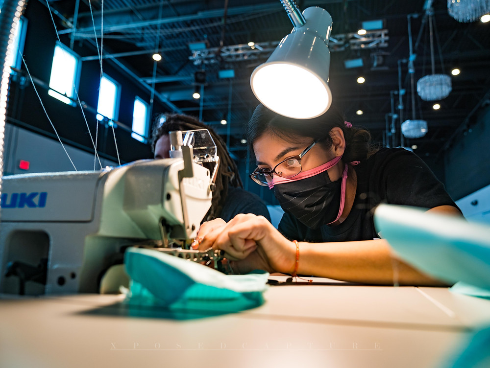 Sewing PPE at FABRIC