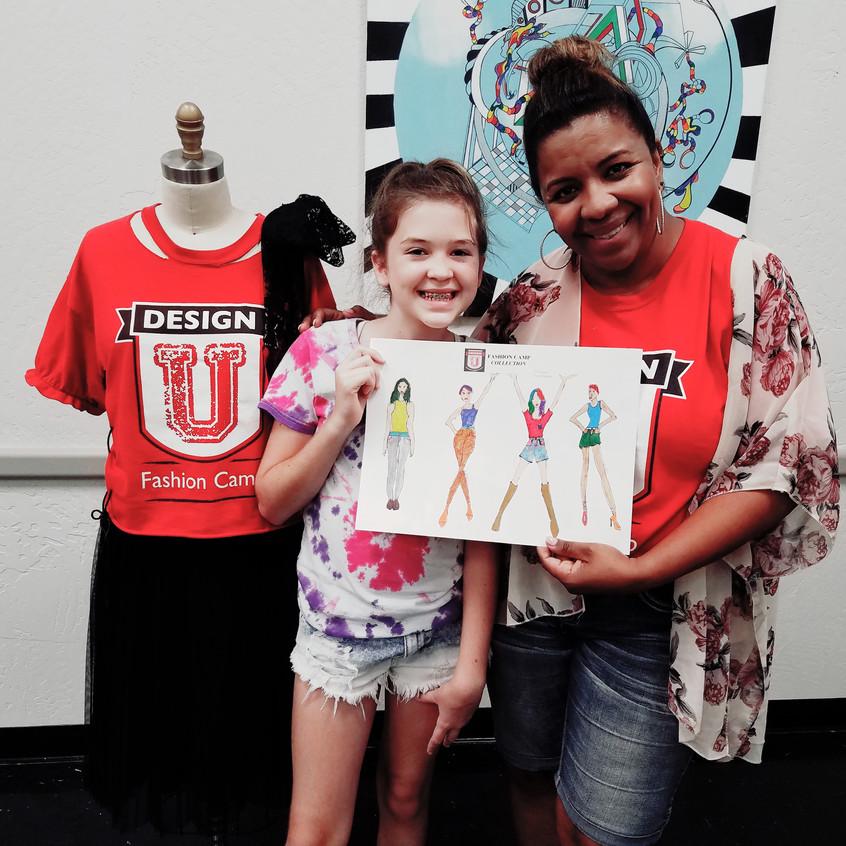 Talullah and Joanna at fashion camp