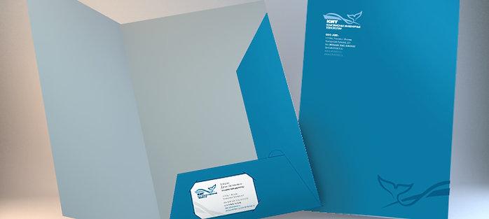 Папка А4, бумага 350 гр/м2. Тираж от 10 шт.