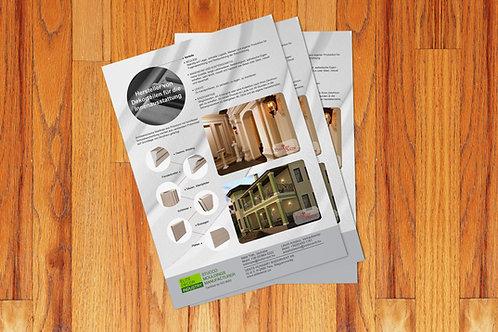 Листовка А4, бумага 170 гр/м2. Тираж от 10 до 500