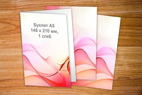 Буклет А5, бумага 115 гр/м2. Тираж от 1000 шт.