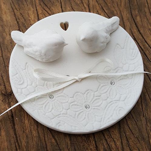 porta alianças de porcelana