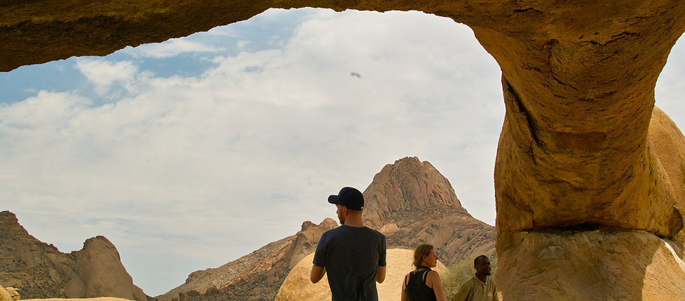 Rock arch at Spitzkoppe, Spitzkoppe grnite peak, rock formations, bushman rock paintings.