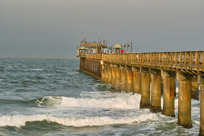Swakopmund town tour. 1905 Jetty, largestgerman speaking comiunity outside og Europe.