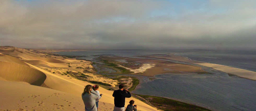 Late afternoon light from ontop of the a dune near Sandwich Harbour.