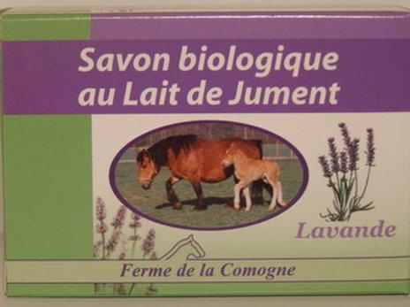 Savon biologique au lait de jument - Lavande - 100gr
