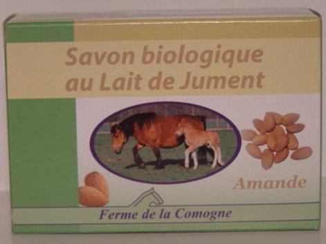 Savon biologique au lait de jument - Amande - 100gr