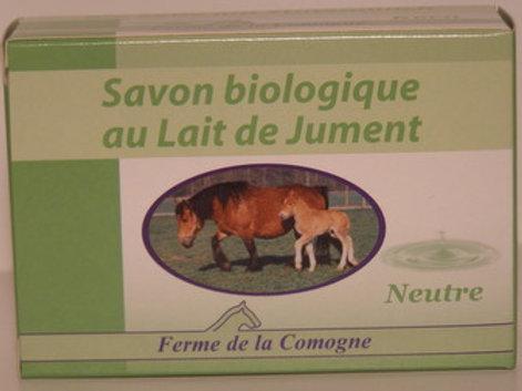 Savon biologique au lait de jument - Neutre - 100gr
