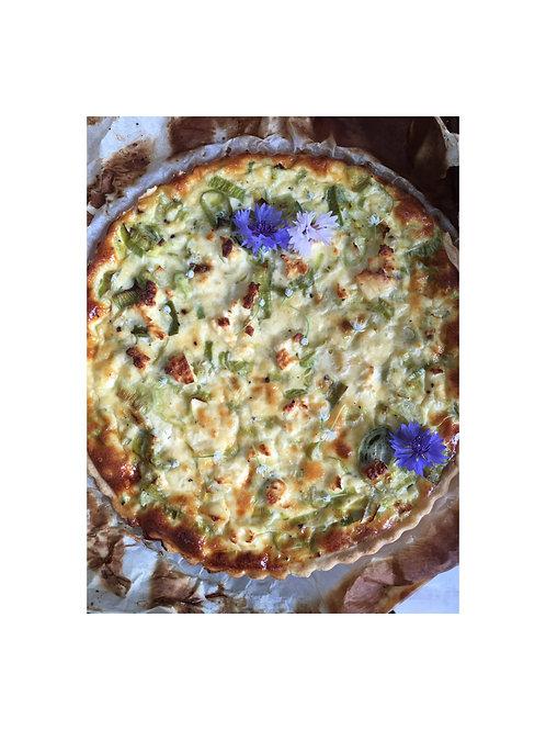 Prei-fêta quiche (vegetarisch)