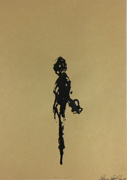 Inkpromptu Op.110 | Uomo con chitarra