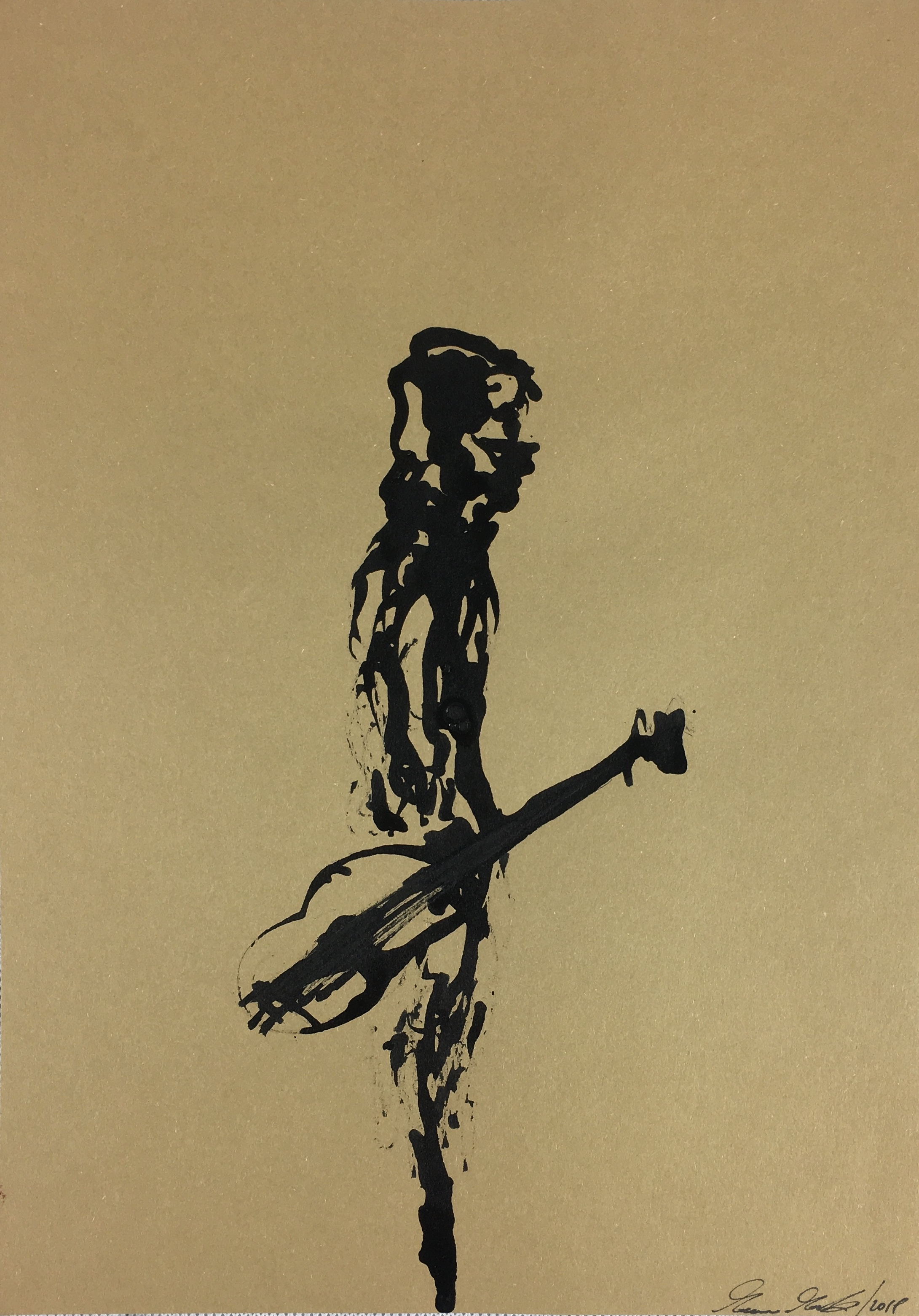 Inkpromptu Op.114   Uomo con chitarra