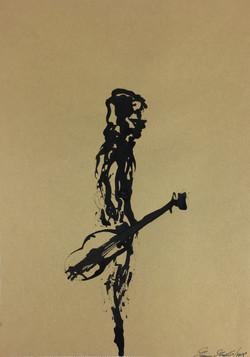 Inkpromptu Op.114 | Uomo con chitarra