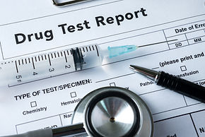 Drug test report, Medical stethoscope wi