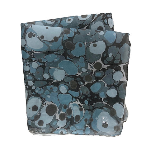 Blue Stone Pocket Square