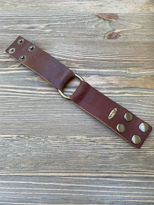 Distressed leather bracelet