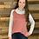 Thumbnail: Striped sleeve cowl neck