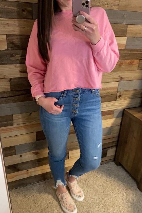 Bubblegum cropped sweatshirt
