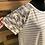 Thumbnail: Plus size gray striped pocket tee