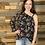 Thumbnail: One shoulder floral blouse