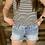 Thumbnail: KanCan light wash denim shorts